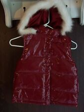 NWOT NEW GYMBOREE RED Puffy Waterproof HOODED VEST JACKET Girl Size Medium 7-8