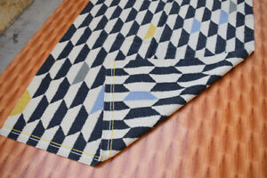Grey color Afghan Geometric Style Rug Turkish Kilim Hand Made Floor Mat 5x7 ft