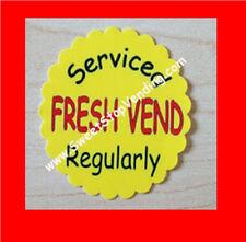 10 Fresh Vend Stickers Bulk Vending Labels