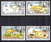 Animaux Faune sauvage Mongolie (4) série complète 4 timbres oblitérés