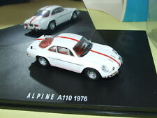 RENAULT ALPINE A110 1976 Blanc bande Rouge IXO