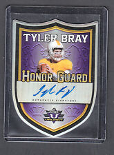 Tyler Bray 2013 Leaf Valiant Honor Guard Purple Die Cut Auto Card On Card Auto
