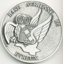 BASE AERIENNE 105 - EVREUX - HIBOU CHOUETTE - médaille de table - 7 cm