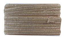 9mtr lace saree border craft trim ribbon applique gold braid 2 row stones dress