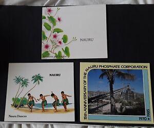 3 sets of Nauru stamps in packs  MUH  flowers dance phosphate  X76XC