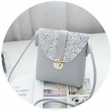 women small bling bling shoulder bag lady's mini cute solid color Glossy handbag