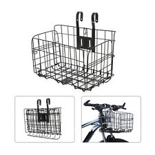 Metal Foldable Bike Front Rear Basket Bicycle Handlebar Shopping Carrier Cycling