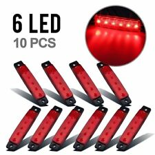 10x SMD 6 LED Side Marker Indicators Lights Red for Truck Trailer Clearance Lamp