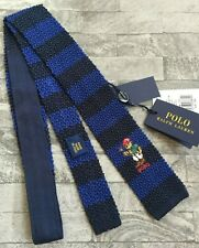 Ralph Lauren Garçons Carré Fin Ours Cravate Main Fabriqué En Italie Neuf