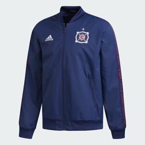 Adidas MLS Chicago Fire Blue Anthem Jacket Blue/Red