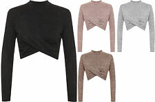 Polyester No Pattern Stretch Tops & Shirts for Women