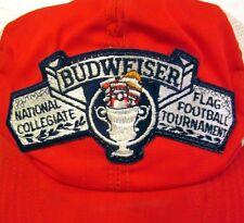 BUDWEISER beat-up cap National Collegiate Flag Football Tournament beer hat
