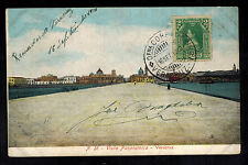 1910 Mexico Real Picture RPPC Postcard Cover Panoramic View Veracruz