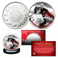 PRINCE HARRY & MEGHAN MARKLE Official Palace Royal Wedding Portrait B/W RCM Coin