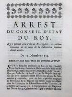 Saint Hippolyte du Fort en 1750 Gard Alès Languedoc Vignoble Eynard