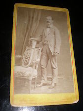 Cdv old photograph man French Horn by Provost Perpignan France c1880s