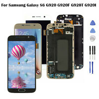 Pour Samsung Galaxy S6 G920 G920F G920T G920I écran LCD Tactile + Cadre + Outils