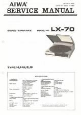 AIWA LX-70 LX 70  - TURNTABLE - SERVICE MANUAL IN COLOR VERSION - REPAIR -