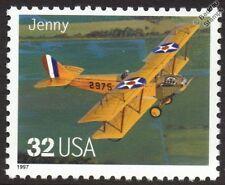 Curtiss JN-4 Jenny JN-4D señal cuerpo 2975 Primera Guerra Mundial Biplano Avión Sello (1997 EE. UU.)