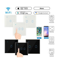 WiFi Smart Light Switch Touch Wireless Remote Control For Alexa Google UK Plug