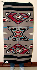 "Throw Rug Tapestry Southwest Western Hand Woven Wool 32x64"" Replica #213"