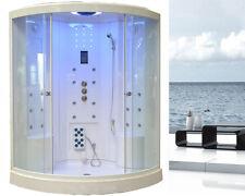 Duschtempel Dampfdusche RUW 518 135 x 135 cm LED Radio Touchpanel Fußmassage