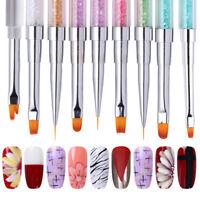 Dual-ended UV Nail Brushes Liner Painting Pencil Nail Art Extension Design Tools