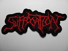 SUFFOCATION  RED SHAPED LOGO  EMBROIDERED PATCH