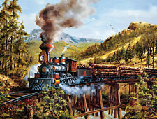 Jigsaw puzzle Train Smoke Steam and Timber 500 piece NEW Made in the USA