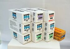 9 assorted  120 Ilford B&W films + 1 roll of Kodak Ektachrome 400 - all expired.