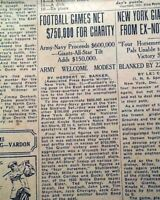 KNUTE ROCKNE Notre Dame Fighting Irish Last Football Game Coached 1930 Newspaper