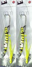 2 x Fladen Maxximus vert/jaune CUILLER MUPPET MONTAGE Ling Huss Congre morue