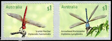 2017 Dragonflies - Set of 2 Self Adhesive Stamps (ex roll) - MUH