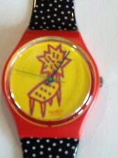 "SWATCH WATCH""DOT CHAIR"" VERY RARE NEW COLLECTABLE MINT GR115GREAT GIFT NIB"