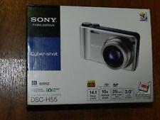 NEW in Open Box - Sony Cyber-Shot DSC-H55 Camera 14.1MP - BLACK - 027242778375