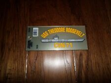 U.S MILITARY NAVY USS THEODORE ROOSEVELT CVN-71 WINDOW DECAL BUMPER STICKER