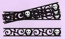 "Halloween Border Die Cuts, Skull Border Die Cuts, 6 pcs. 8.5"" long x 1.25"" high"