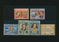 Franklin Roosevelt San Marino Mint NH 1947 Set of 6 Pictorial Stamps with Flags