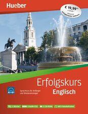 ENGLISCH ERFOLGSKURS FÜR ANFÄNGER A1-B1 mit 2 Bücher 4 Audio-CDs 2 CD-ROMs
