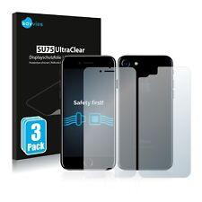 6x protector de pantalla para Apple iPhone 7/8 (delanteras + posteriores) película plástica invisible