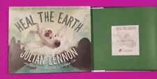 """JULIAN LENNON SIGNED BOOK """"HEAL THE EARTH"""" WITH AUTHENTICITY - JOHN BEATLES"""