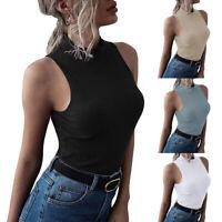Women Tank Tops Summer Sleeveless Basic Cami Tops Shirts Slim Racerback Blouses