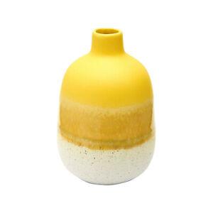 Mojave Reactive Glaze Matte Yellow Stoneware Mini Bud Vase - Brand New & Boxed