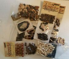 Large Lot of Wood/Bone/Shell Beads - Many Different Styles - 1/2 Pound Total