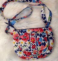Vera Bradley Eloise Red White Blue Floral Handbag Purse Adjustable Strap NWOT