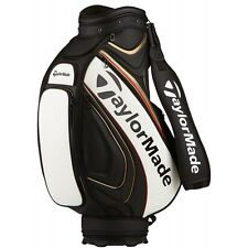 NEW 2016 TaylorMade Players Tour Staff Bag - Black/White/Red/Gold