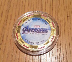 2019 Marvel - Avengers Endgame - 5cm Gold-Plated Commemorative Medal Coin