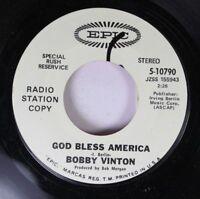 Pop Promo Nm! 45 Bobby Vinton - God Bless America / A Little Bit Of You On Epic