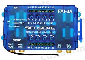 Scosche SLC-4 / FAI-3A 4-Channel Adjustable Line Output Converter Speaker Level