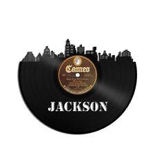 Jackson Vinyl Wall Art Cityscape Vintage Anniversary Bedroom Office Decor Framed